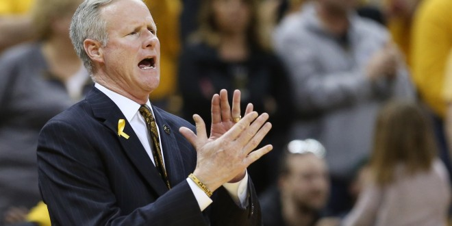 Feb 13, 2016; Columbia, MO, USA; Missouri Tigers head coach Kim Anderson claps during the second half of a game against the Tennessee Volunteers at Mizzou Arena. The Tigers won 75-64. Mandatory Credit: Timothy Tai-USA TODAY Sports