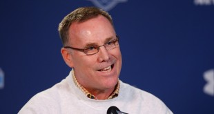 Feb 21, 2014; Indianapolis, IN, USA; Kansas City Chiefs general manager John Dorsey speaks to the media in a press conference during the 2014 NFL Combine at Lucas Oil Stadium. Mandatory Credit: Brian Spurlock-USA TODAY Sports